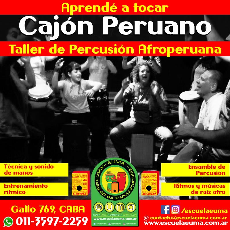 Curso de Cajón Peruano y Percusión Sudamericana