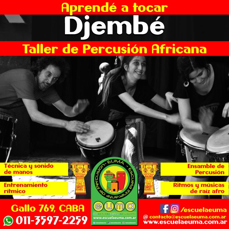 Curso de Djembé y Percusion Africana