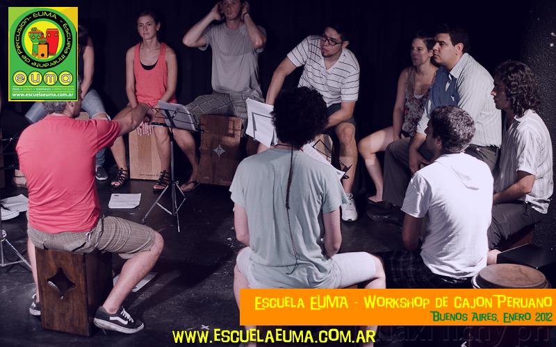 Workshop de Cajón Peruano de Escuela EUMA